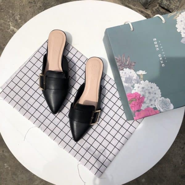 Giày sục móc vuông kiểu dáng mới 2021 tiện dụng