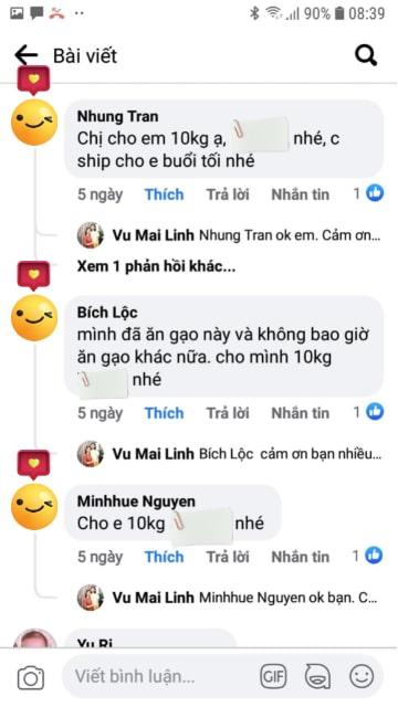 Chị Lộc Hà Đông khen gạo Séng Cù ngon