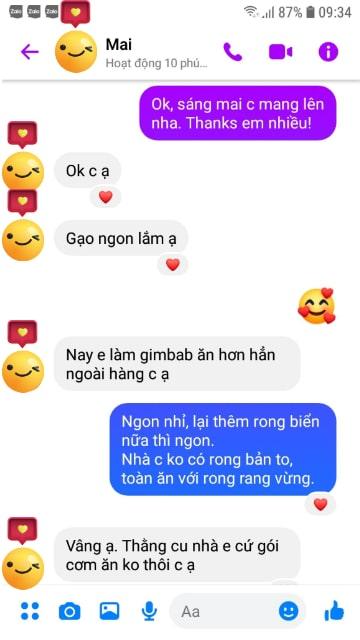 Chị Mai Hà Đông khen gạo Séng Cù ngon