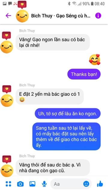 Chị Thủy Hà Đông khen gạo Séng Cù ngon